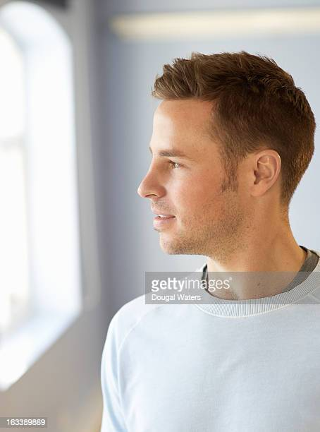 profile portrait of man