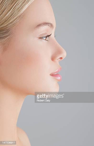 Profil-Porträt von Frau