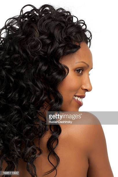 Profile portrait of young African woman