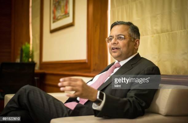 Profile shoot of Natarajan Chandrasekaran CEO of Tata Consultancy Services