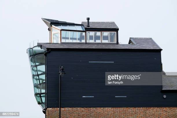 A profile view of a home shaped as a fishing trawler in North Shields on May 12 2017 in North Tyneside United Kingdom The traditional Labour area of...