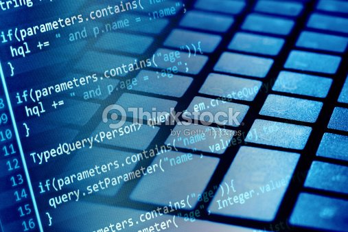 Program Code And Computer Keyboard Stock Photo - Thinkstock