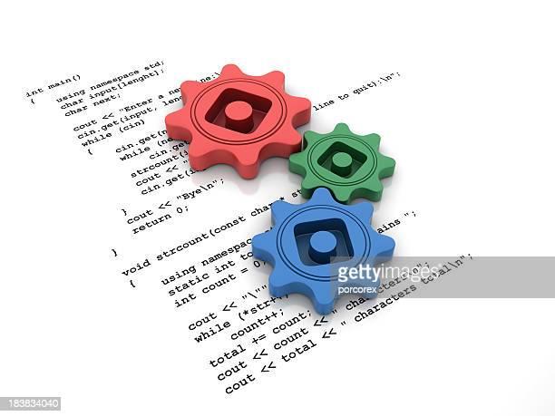Programm-Code mit Getriebe