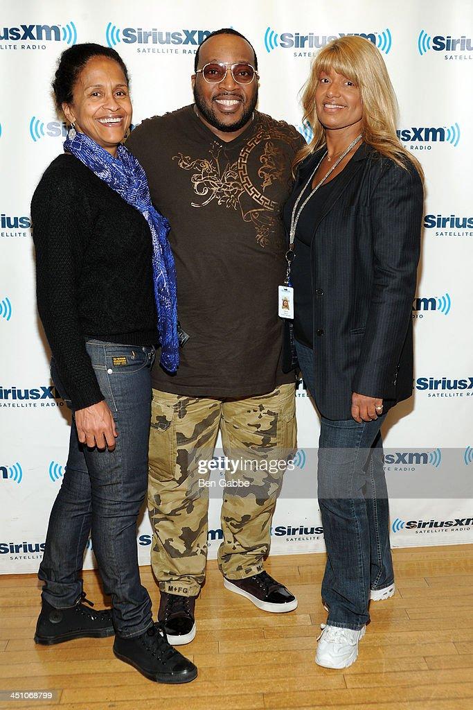 Program director of 'Praise' Pat McKay, gospel singer Marvin Sapp and director of talent for SiriusXM Tracey Jordan at SiriusXM Studios on November 21, 2013 in New York City.