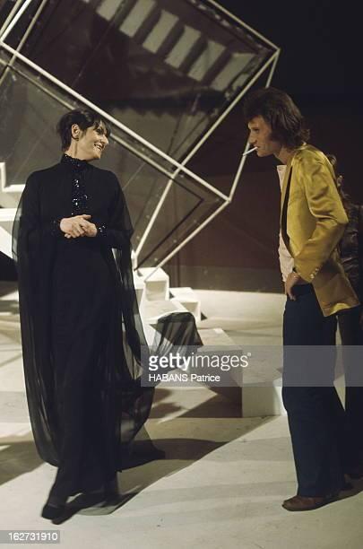 Programme 'Top À Johnny Hallyday' Enregistrement de l'émission 'Top à Johnny Hallyday' diffusée le 18 mars 1972 par l'Ortf sur la deuxième chaîne...
