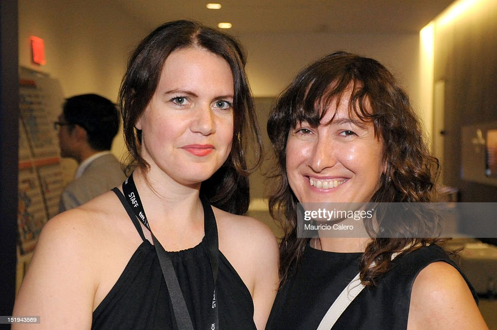 Programmer Andréa Picard (L) and Filmmaker Athina Rachel Tsangari attend the 'The Capsule' premiere during the 2012 Toronto International Film Festival at TIFF Bell Lightbox on September 12, 2012 in Toronto, Canada.