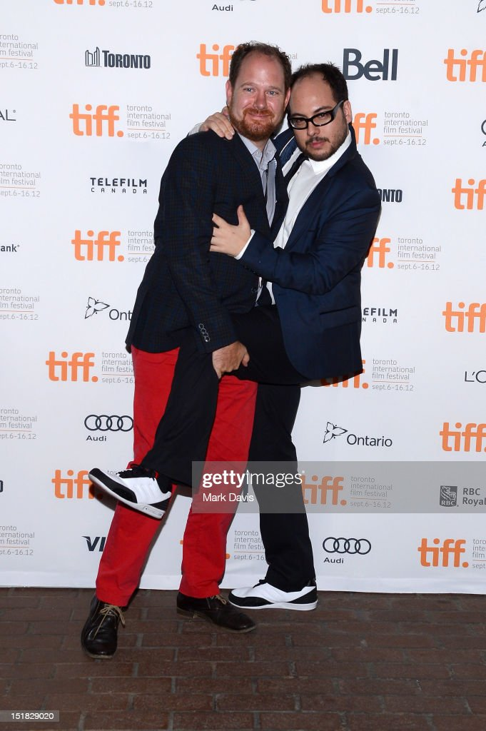 TIFF programmer Colin Geddes and writer/director Nicolás López attend the 'Aftershock' Premiere during the 2012 Toronto International Film Festival...