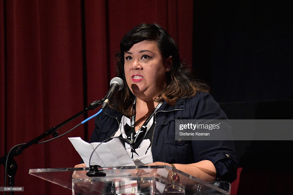 Programmer for TCM Millie De Chirico speaks onstage at 'Band of Outsiders' screening during day 3 of the TCM Classic Film Festival 2016 on April 30, 2016 in Los Angeles, California. 25826_005