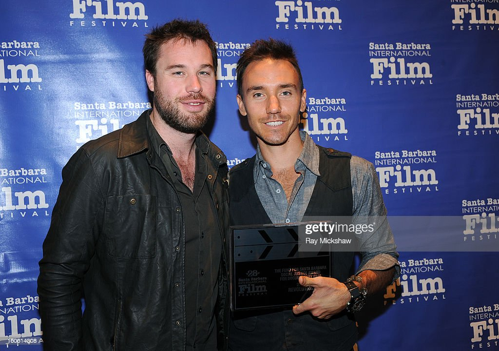 SBIFF programmer Michael Albright and Director Rob Stewart, winner of the 'Fund for Santa Barbara Social Justice Award for Documentary Film' attends the 28th Santa Barbara International Film Festival Awards Breakfast on February 3, 2013 in Santa Barbara, California.