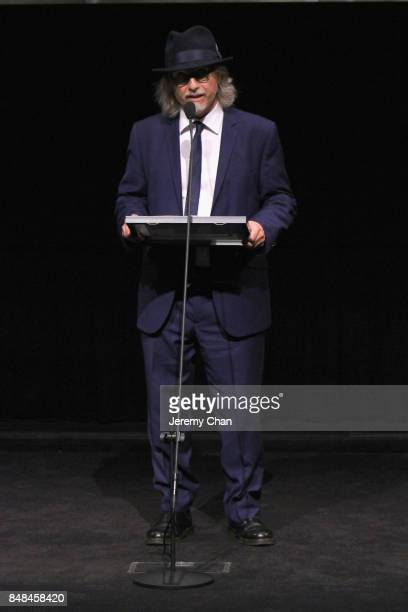 Programmer Steve Gravestock accepts The Canada Goose Award for Best Canadian Feature Film for 'Les Affamés' on behalf of director Robin Aubert at the...
