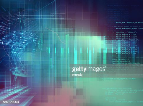 Programming code abstract technology background of software deve : Stock Photo
