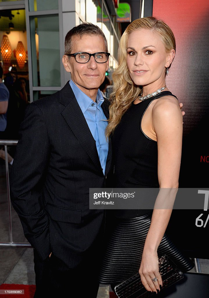 Programming President Michael Lombardo and actress <a gi-track='captionPersonalityLinkClicked' href=/galleries/search?phrase=Anna+Paquin&family=editorial&specificpeople=211602 ng-click='$event.stopPropagation()'>Anna Paquin</a> attend HBO's 'True Blood' season 6 premiere at ArcLight Cinemas Cinerama Dome on June 11, 2013 in Hollywood, California.