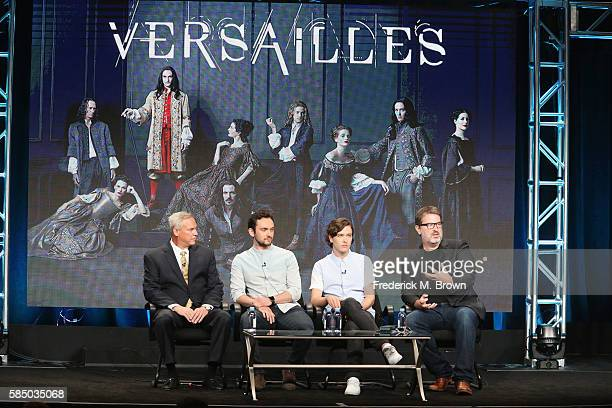 EVP Programming Production at Ovation Scott Woodward actors George Blagden Alexander Vlahos and showrunner/executive producer David Wolstencroft...