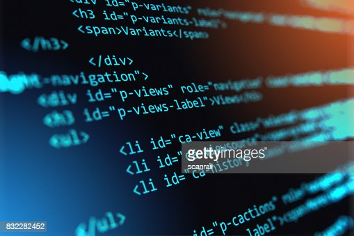 Programming source code abstract background : Stock Photo