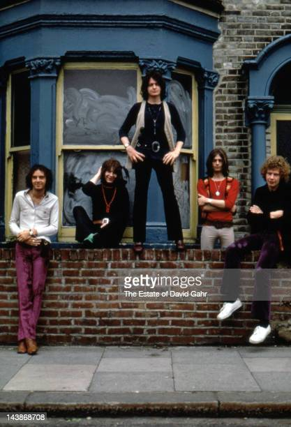 Progressive rock band Yes pose for a portrait in July 1969 in London England