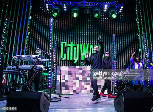 Prohgress DJ Virman Kev Nish and JSplif of Far East Movement perform during Universal CityWalk's 'Music Spotlight Series' at 5 Towers Outdoor Concert...