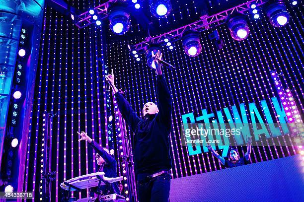 Prohgress Kev Nish and DJ Virman of Far East Movement perform at Universal CityWalk's Free Summer 'Music Spotlight Series' at 5 Towers Outdoor...