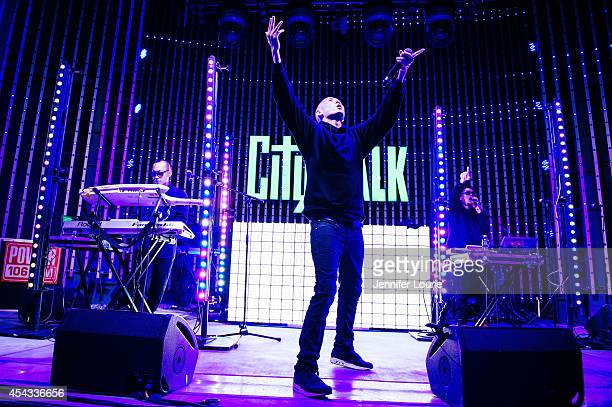 Prohgress Kev Nish and JSplif of Far East Movement perform at Universal CityWalk's Free Summer 'Music Spotlight Series' at 5 Towers Outdoor Concert...