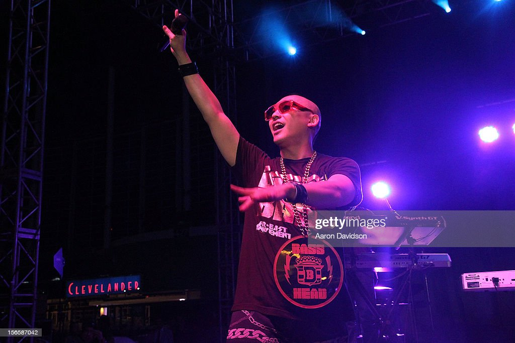 Prohgress of Far East Movement attends Zenith Watches Best Buddies Miami Gala at Marlins Park on November 16, 2012 in Miami, Florida.