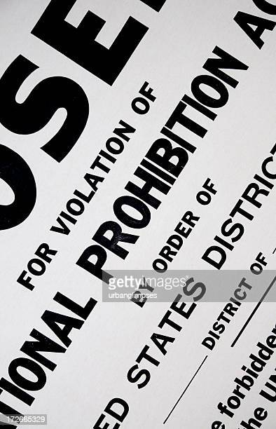 US Prohibition Sign