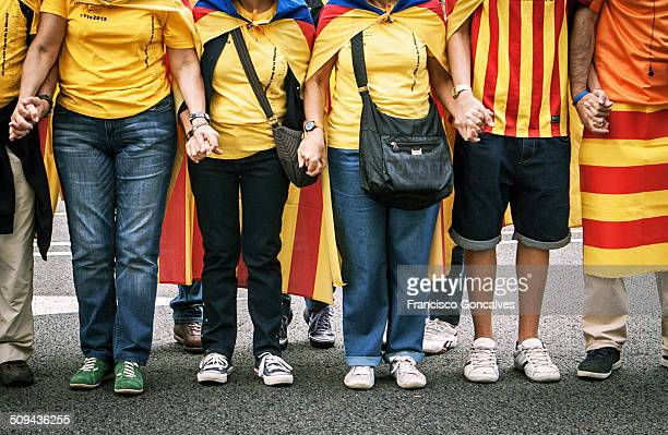 Pro-independence of Catalonia human chain