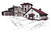 project layout drawing of the house. Copy spase