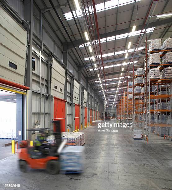 Project Orange Bridgwater United Kingdom Architect Reid Architecture Project Orange View Of Warehouse With Forklift