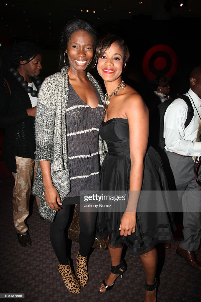 'Project Runway' fashion designer Kimberly Goldson and fashion designer Brandice Henderson attend Harlem's Fashion Row at Jazz at Lincoln Center on September 16, 2011 in New York City.