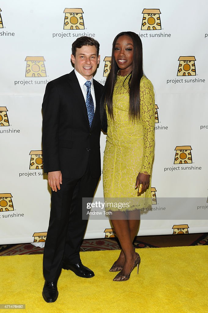 Project Sunshine founder Joseph Weilgus and singer Estelle attend Project Sunshine's 12th Annual Benefit Celebration on April 28 2015 in New York City