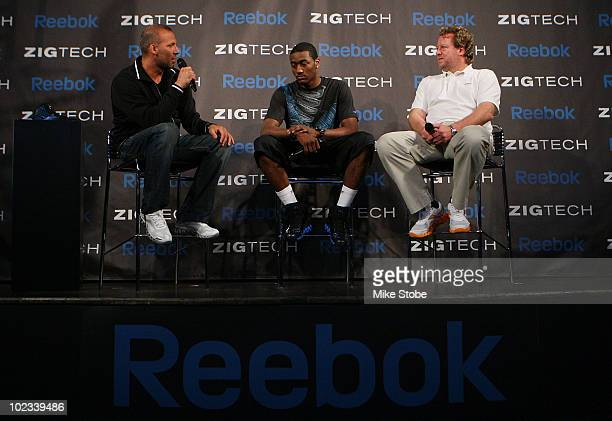 Projected NBA draft pick John Wall of the 2010 NBA draft Todd Krinsky Reebok's Head of Sports and Entertainment Marketing and Uli Becker Reebok's...