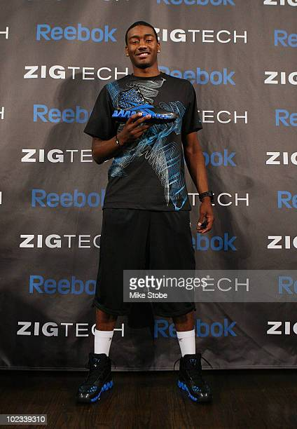 Projected NBA draft pick John Wall poses for a photo during a press conference to unveil his new stateoftheart Reebok basketball shoe ZigTech Slash...