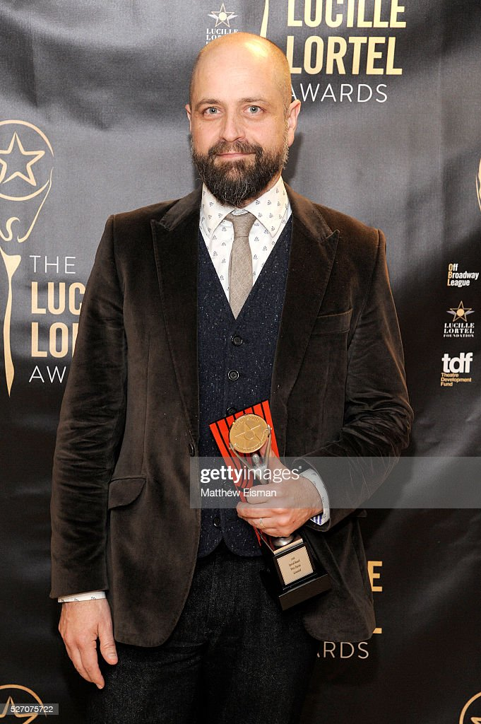Projection designer Peter Nigrini attends the press room for the 31st Annual Lucille Lortel Awards at NYU Skirball Center on May 1, 2016 in New York City.