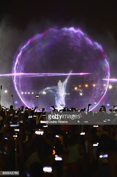 Projection during the A Show Like No Other Dubai Festival City at Festival Bay on December 26 2016 in Dubai United Arab Emirates