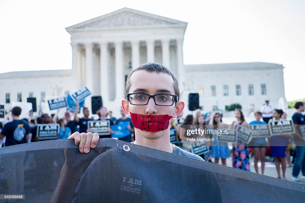 Pro-life activist, Ryan Orr, 17, of Manassas, Va, waits holds a silent vigil as he waits for rulings in front of the U.S. Supreme Court on June 27, 2016 in Washington, DC. A ruling is expected in Whole Woman's Health v. Hellerstedt, a Texas case the places restrictions on abortion clinics, as well as rulings in the former Virginia Governor's corruption case and a gun rights case.