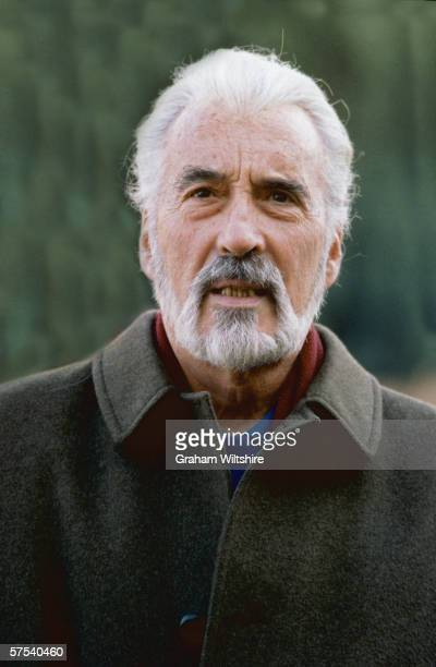 Prolific English actor Christopher Lee circa 2000