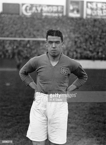 Prolific goal scorer of Everton Football Club Dixie Dean pictured before a match against West Ham United