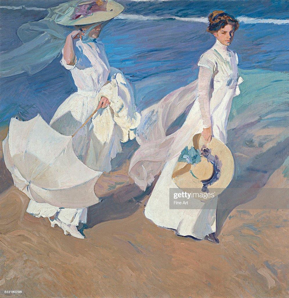 'Promenade au Bord de la Mer' 1909 Oil on canvas 61 x 46 cm Located in the Museo Sorolla Madrid Spain