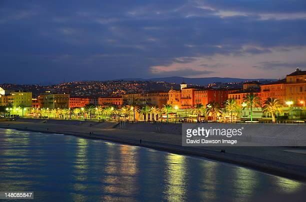 Promenade des Anglais by dusk