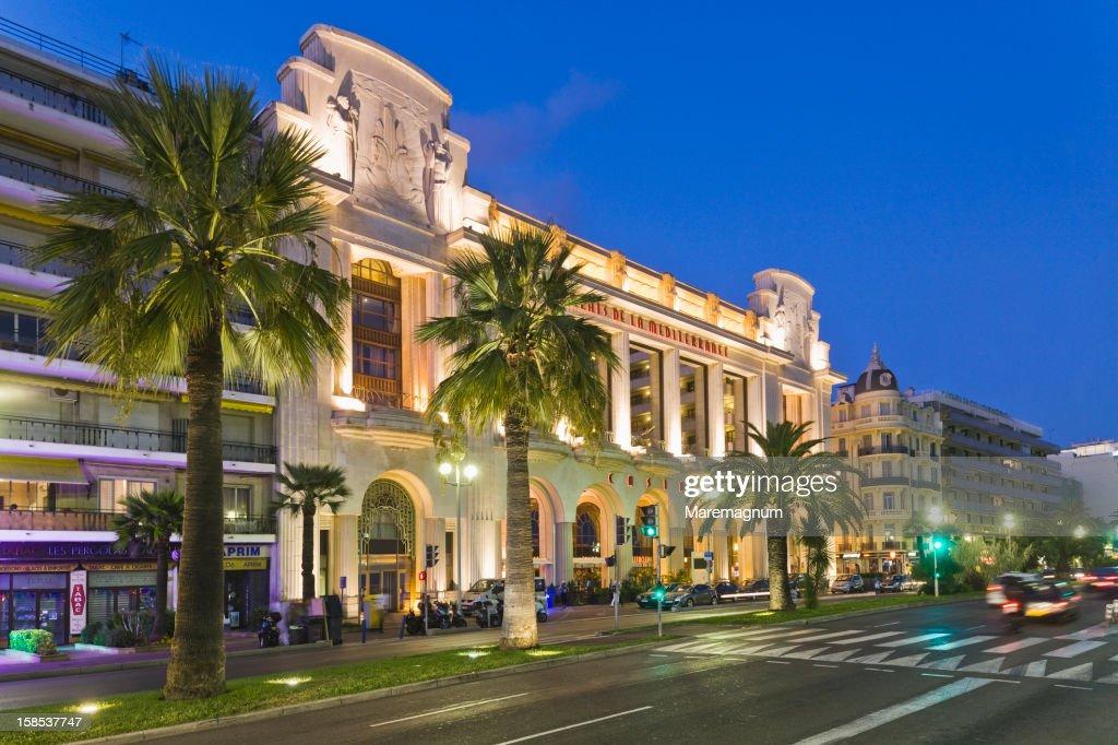 Promenade des Anglais, Palace de la Mediterranée : Stock Photo