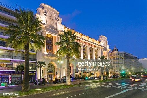 Promenade des Anglais, Palace de la Mediterran?e : ストックフォト