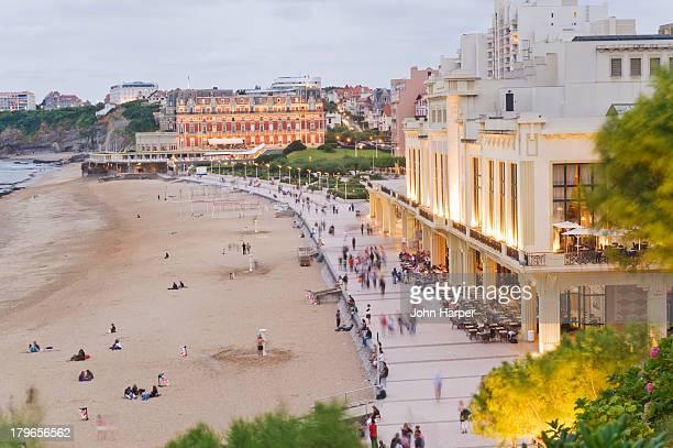 Promenade, Grande Plage, Biarritz, France
