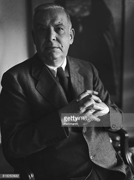 Prominent American poet Wallace Stevens recipient of the 1955 Pulitzer Prize for his Collected Poems