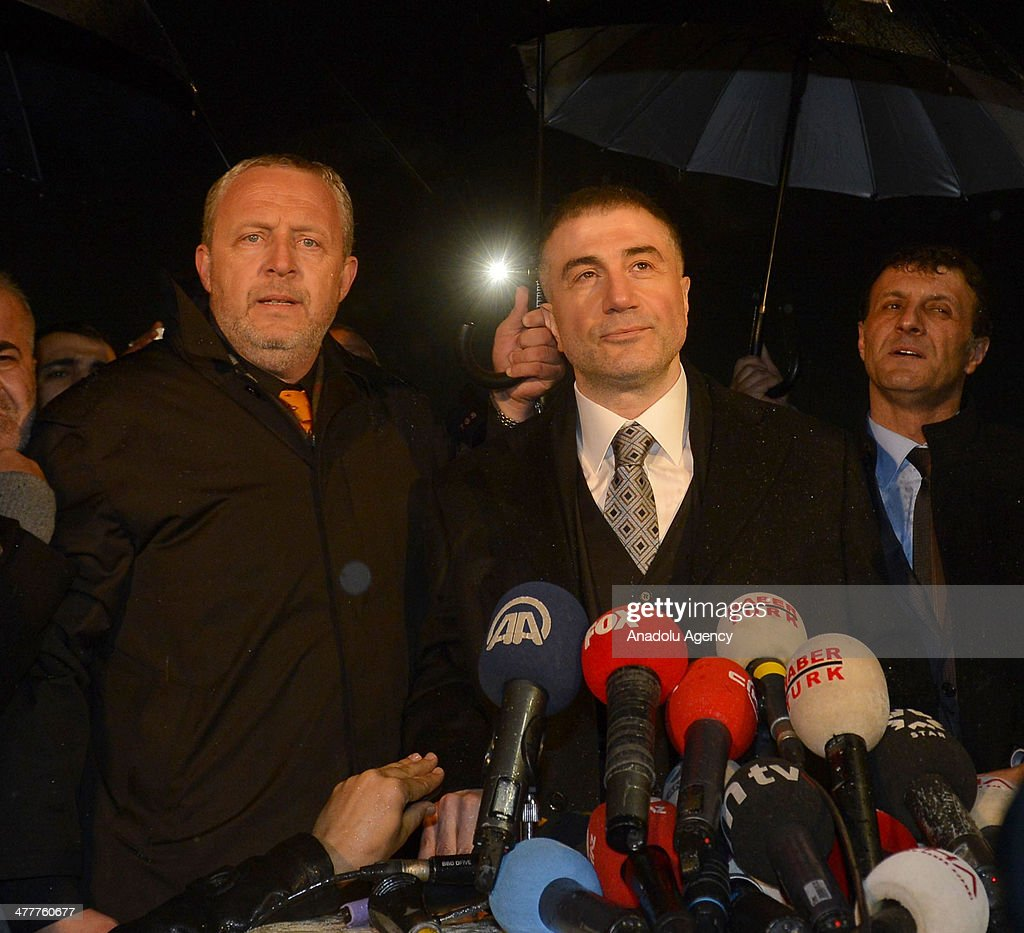 Prominent detainee Sedat Peker in the Ergenekon coup plot case released from Silivri Prison in Istanbul following the 8th and the 21th High Criminal...