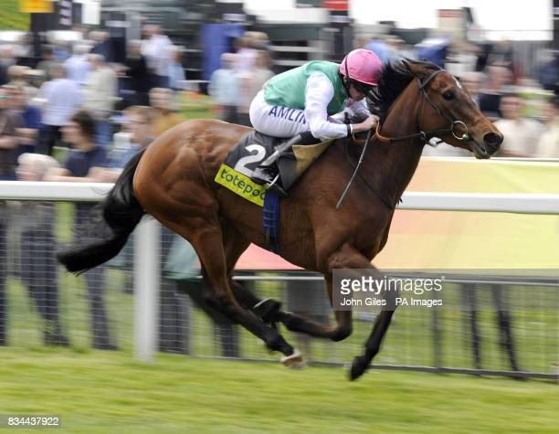 Promising Lead ridden by Ryan Moore win the totepoolscoop6 Special Middleton Stakes at York Racecourse York