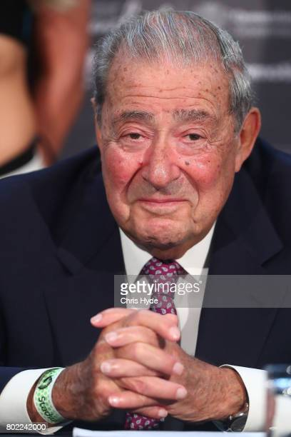 Promoter Bob Arum during the official Pacquiao Vs Horn press conference for WBO World Welterweight Championship at Suncorp Stadium on June 28 2017 in...