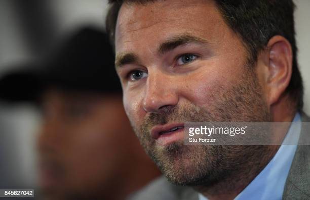 Promoter Eddie Hearn pictured during a media opportunity ahead of the Anthony Joshua v Kubrat Pulev World Heavyweight title clash at Principality...