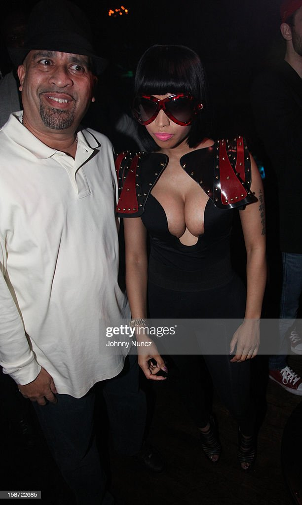 Promoter Joe Jackson and Nicki Minaj attend Nicki Minaj's Christmas Extravaganza at Webster Hall on December 25, 2012 in New York City.