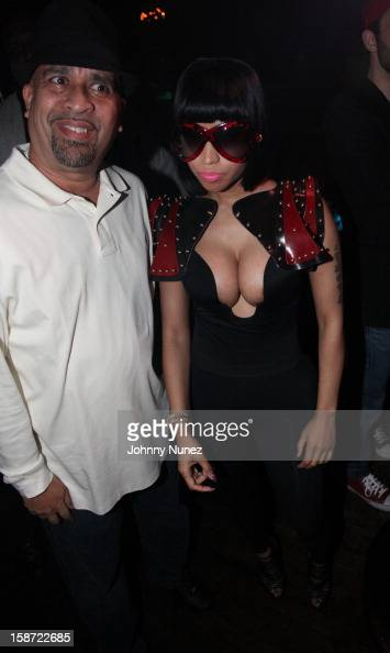 Promoter Joe Jackson and Nicki Minaj attend Nicki Minaj's Christmas Extravaganza at Webster Hall on December 25 2012 in New York City