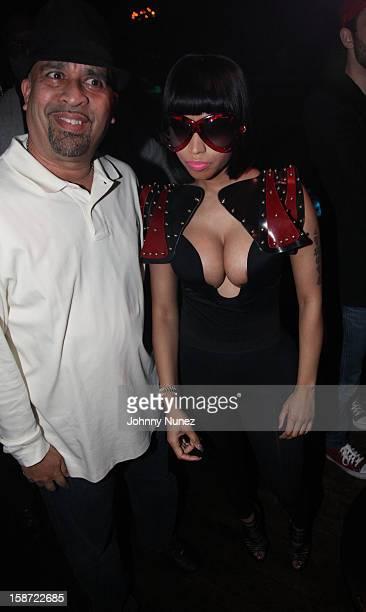 Promoter Joe Jackson and Nicki Minaj attend Nicki Minaj's Christmas Extravaganza at Webster Hall on December 25 2012 in New York City