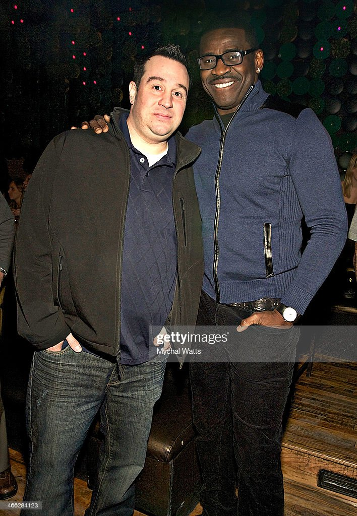 Promoter John Rocco and Michael Irvin attends the 2014 Jocks And Jills Party at Greenhouse on January 31, 2014 in New York City.